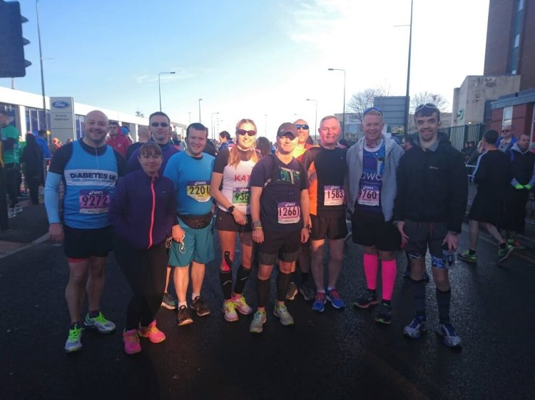 Before the Greater Manchester Marathon 2016